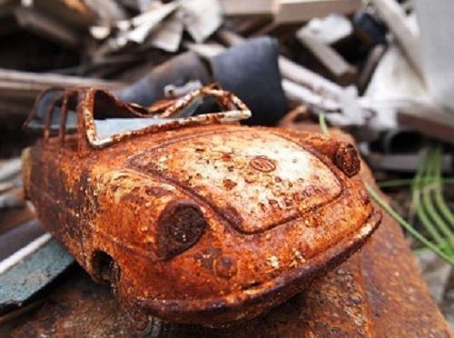 さびた車の画像
